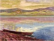 山中湖畔の朝