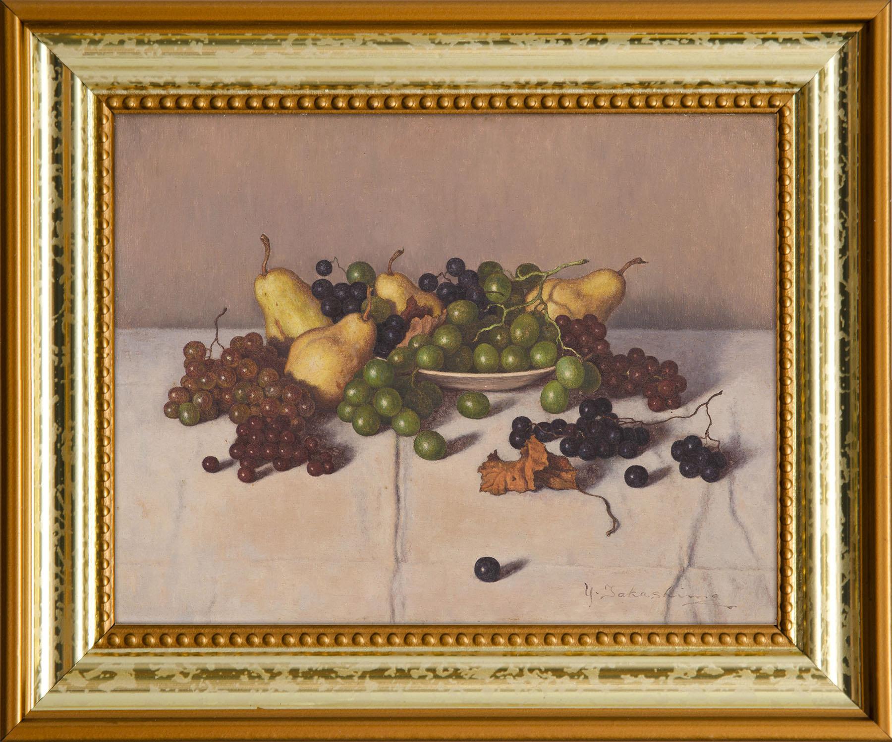 洋梨とブドウ